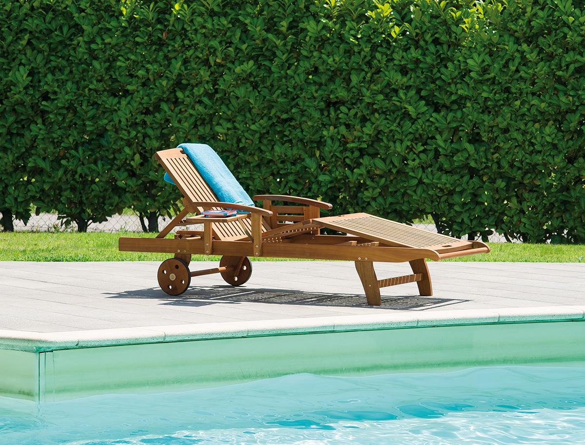 Lettino marbella greenwood mobili da giardino for Lettino allungabile