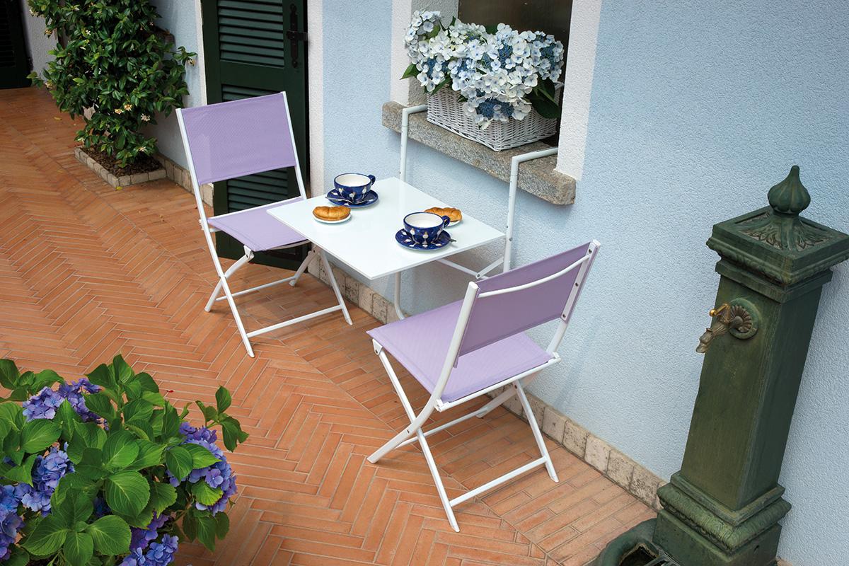 Tavolo da ringhiera bianco 60x56 cm pieghevole for Sedie campeggio ikea