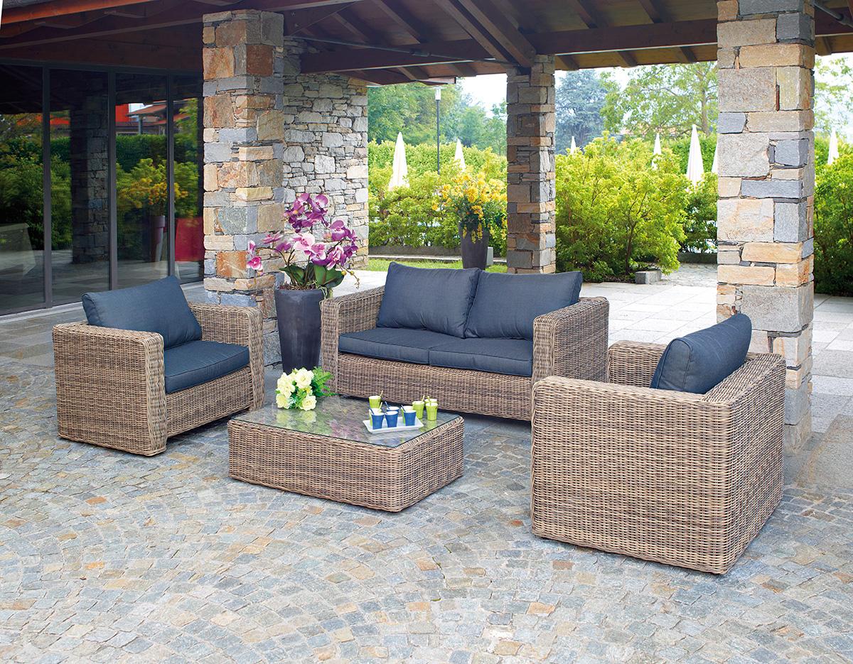 Set trinidad greenwood mobili da giardino for Offerte divanetti da giardino