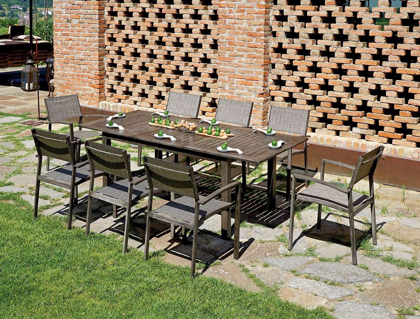Ambientazione cwl01 twl02 greenwood mobili da giardino - Mobili da giardino in teak ...
