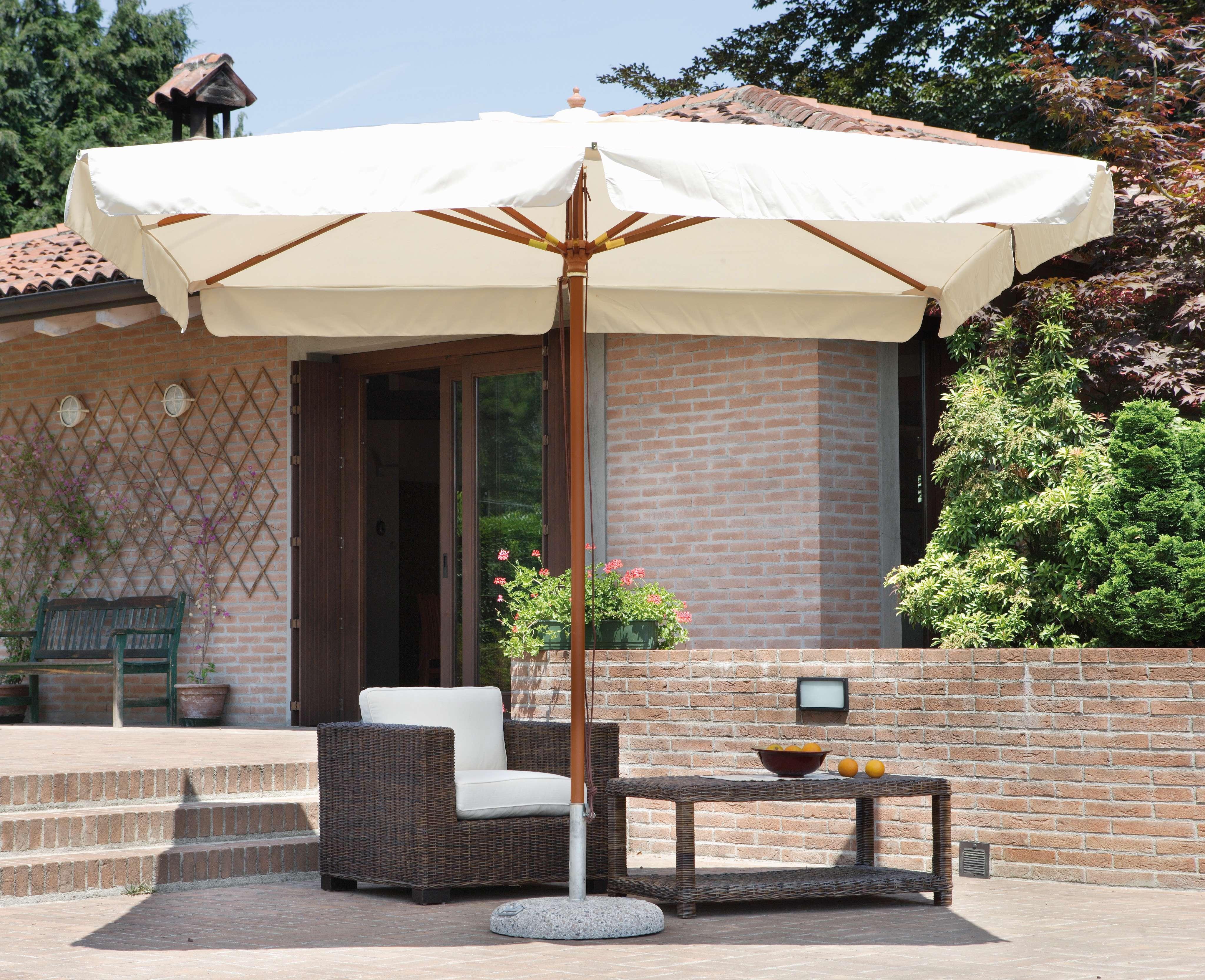 Ombrellone 3x4 m de lux ecru 39 greenwood mobili da giardino for Ikea ombrelloni terrazzo