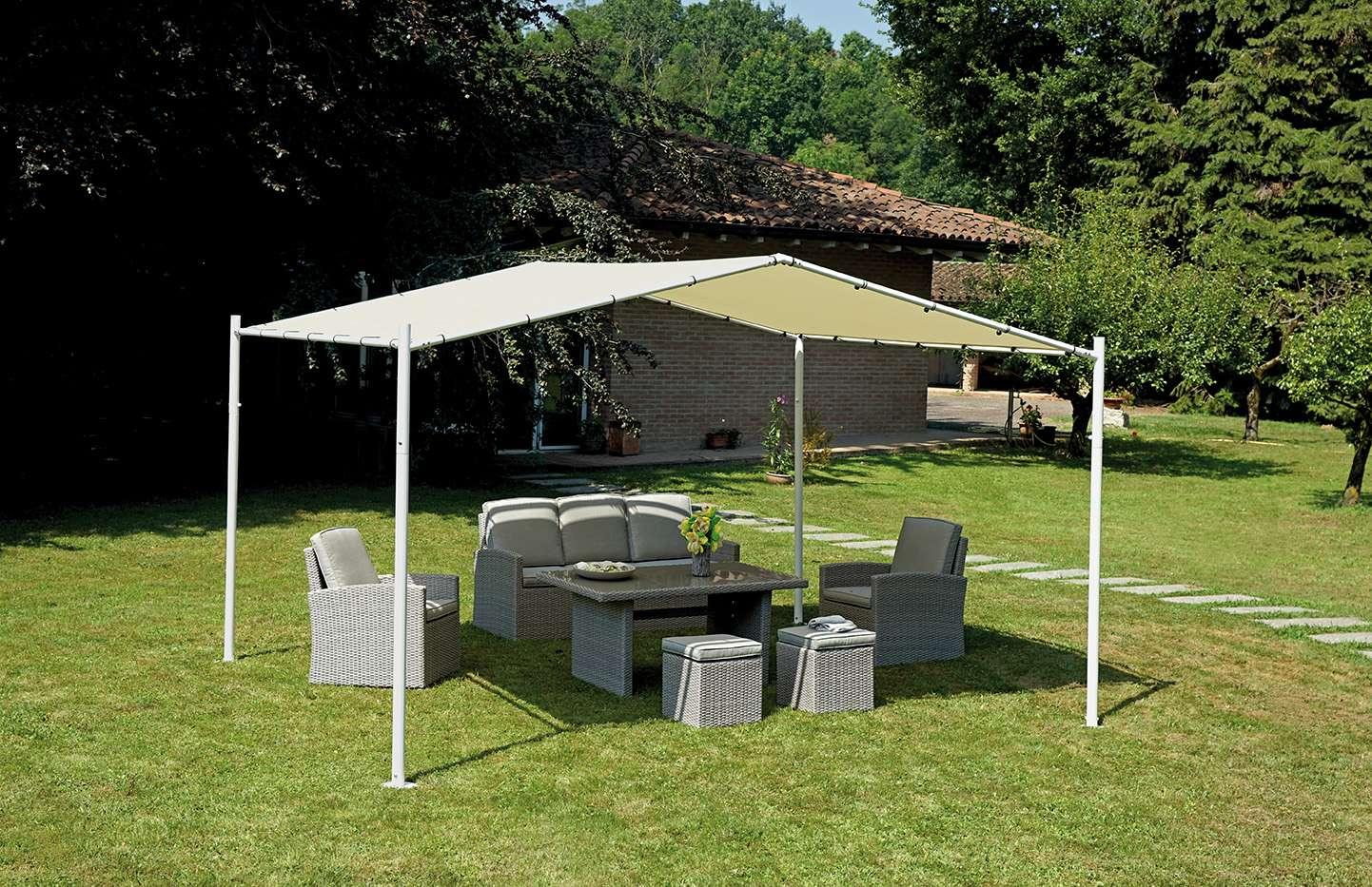 Gazebo milano 3 5x4 m greenwood mobili da giardino for Ombrelloni da giardino milano
