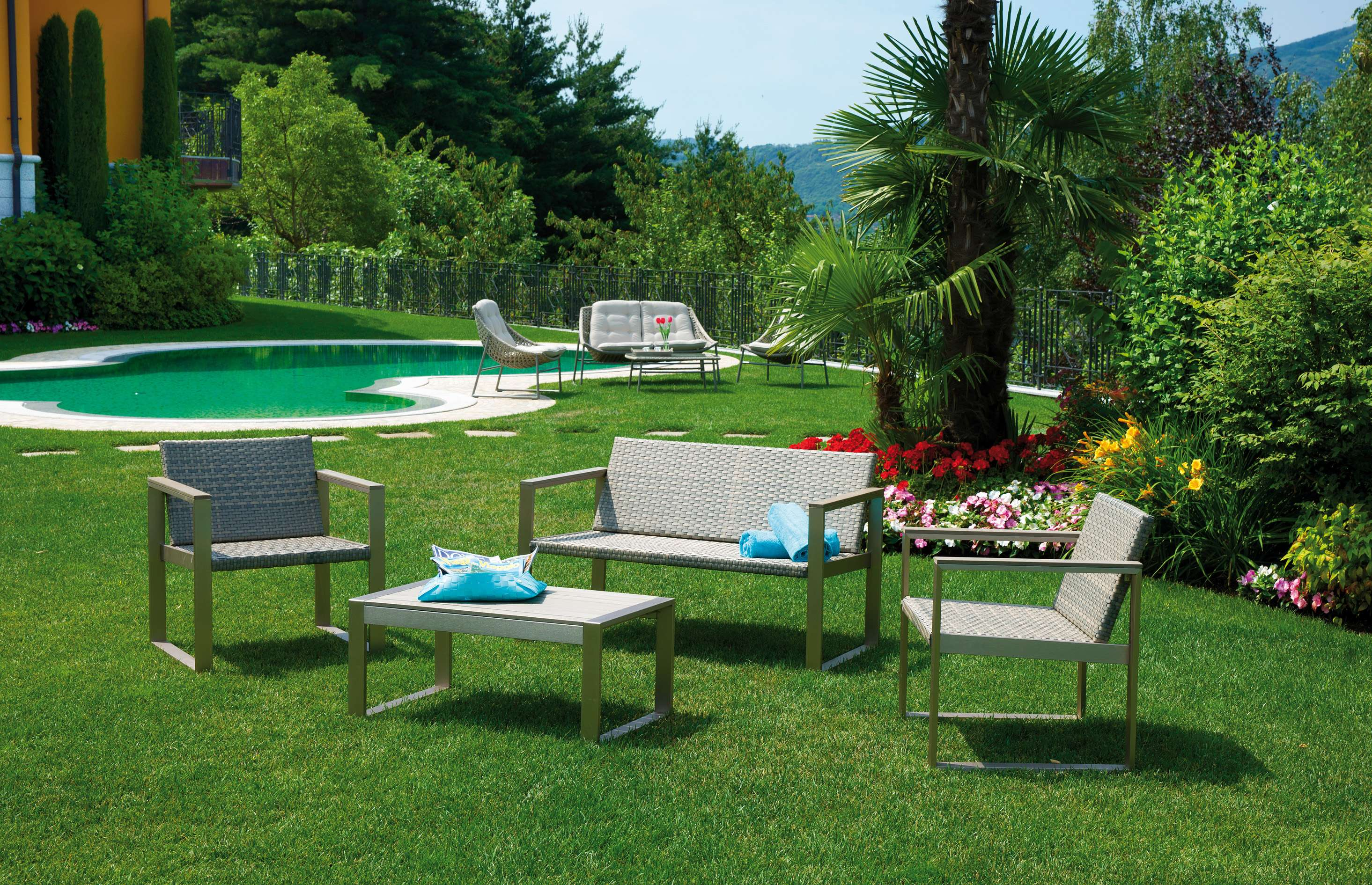 Set milazzo greenwood mobili da giardino for Set mobili da giardino