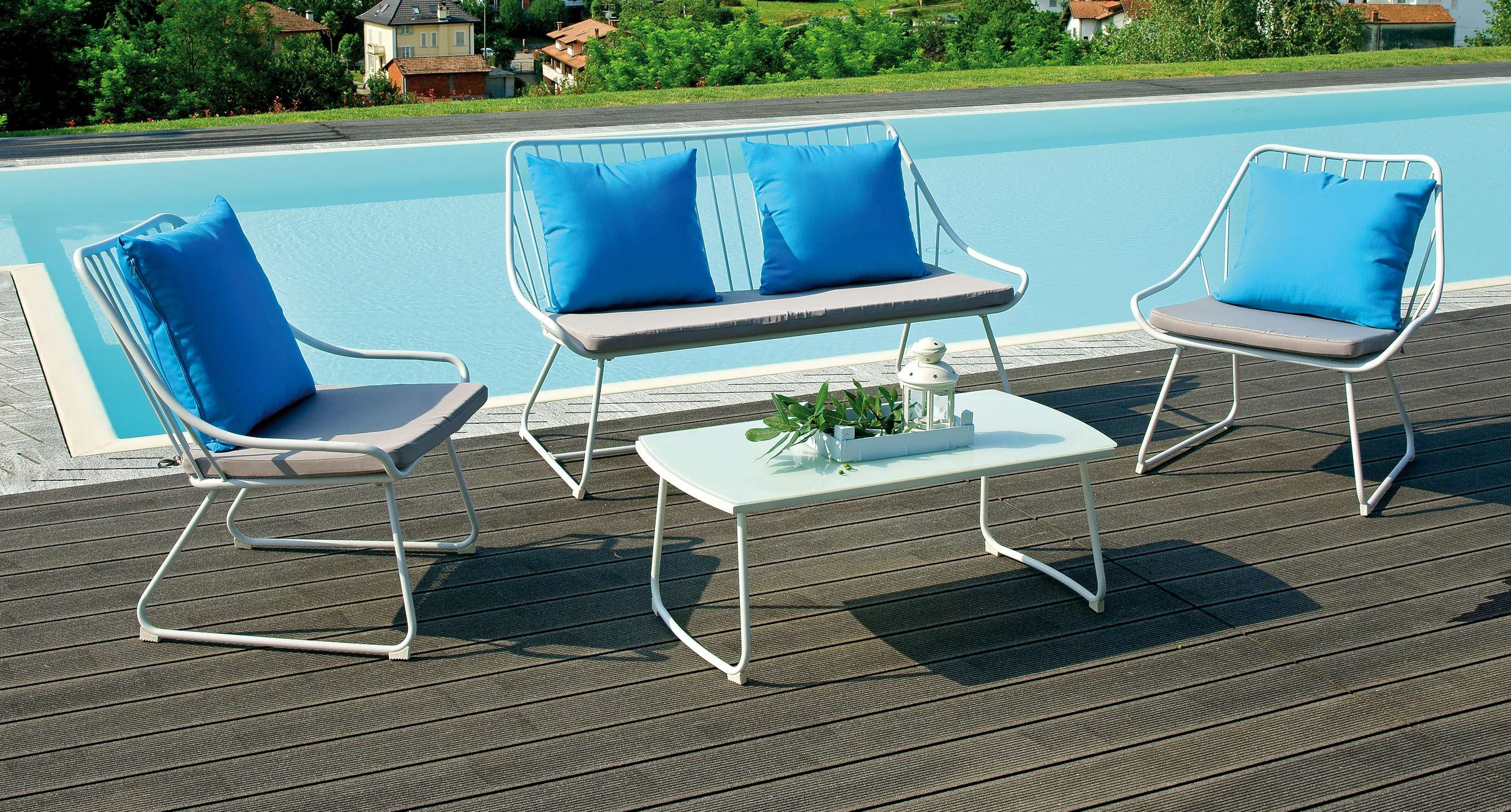 Coffee set porto seguro greenwood mobili da giardino for Salottini esterno