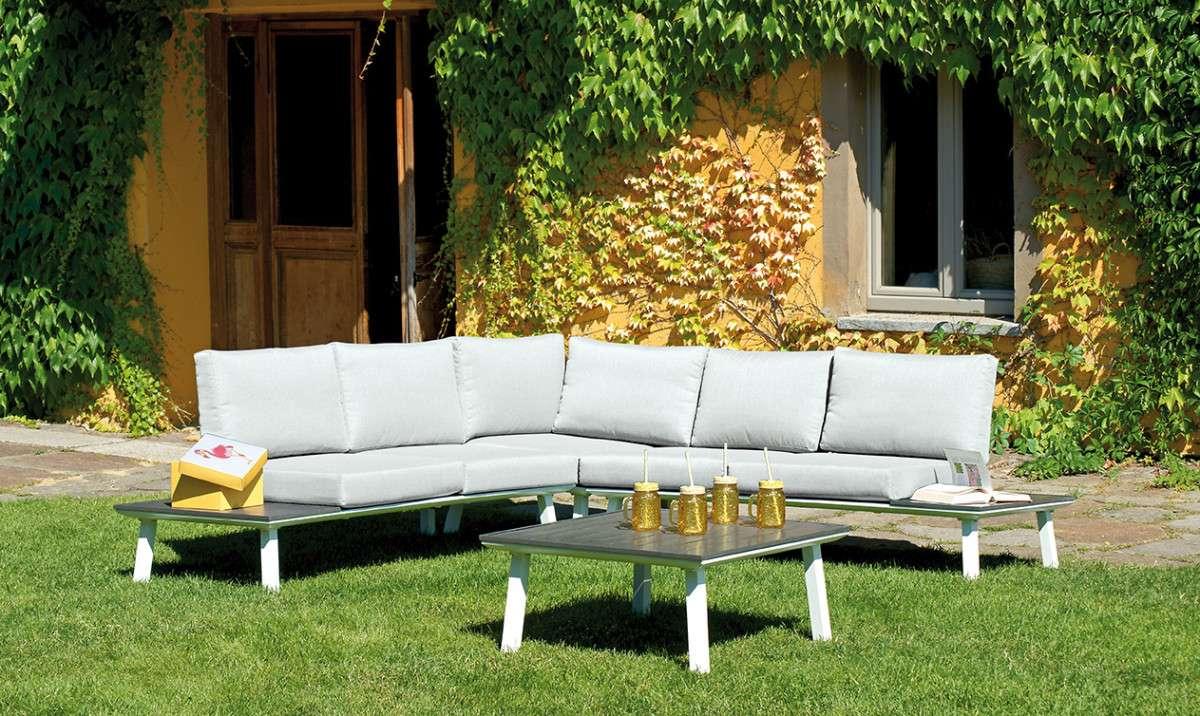 Corner set rapallo greenwood mobili da giardino for Ambientazioni salotti