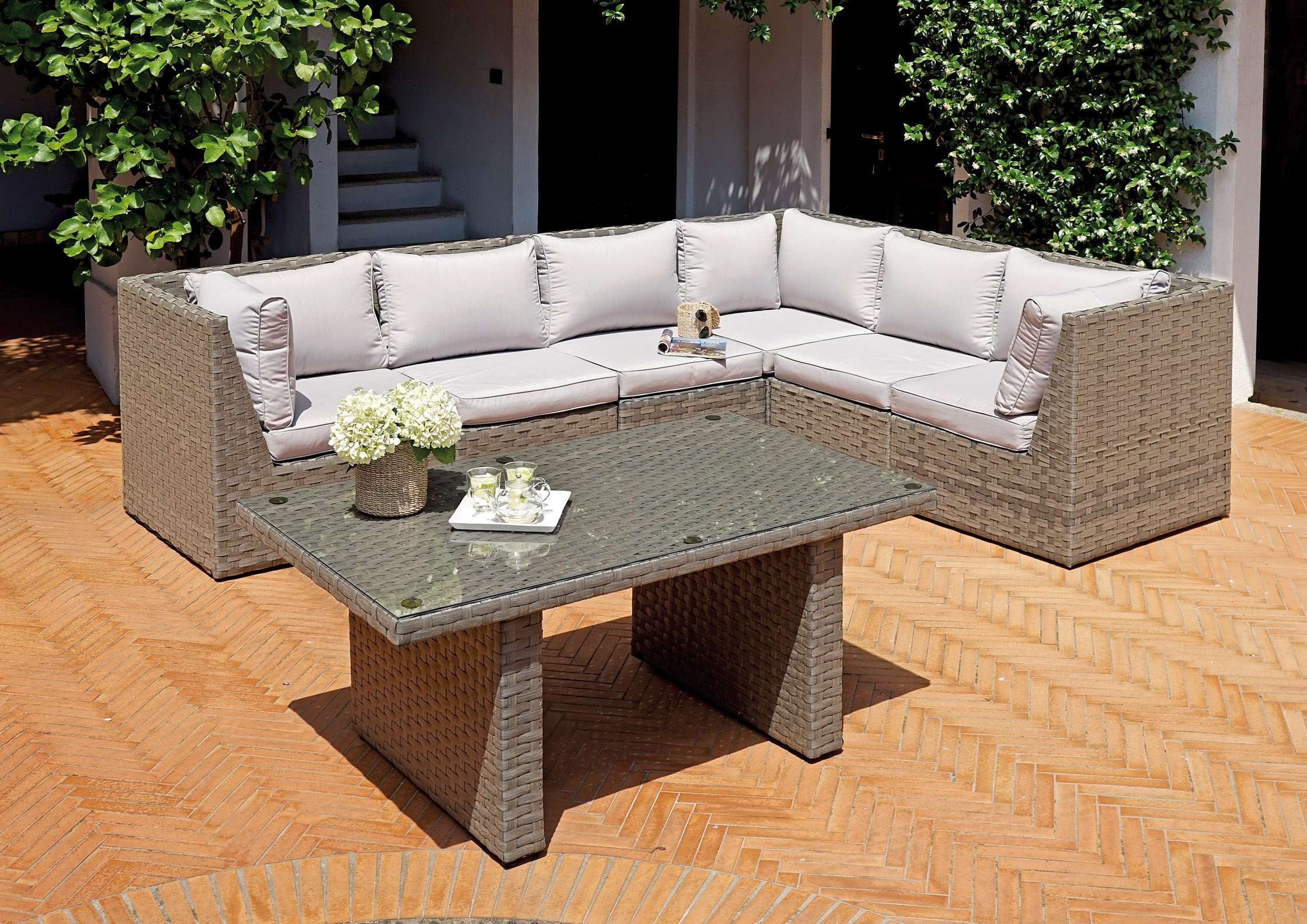 Set agrigento greenwood mobili da giardino for Set mobili da giardino